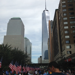 The Freedom Tower from this year's Tunnel to Towers run