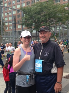 Dad and I at this year's run